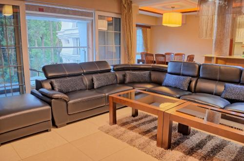 A seating area at Clarence House Nairobi