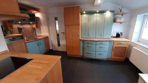 Küche/Küchenzeile in der Unterkunft Ferienwohnung Kamitter