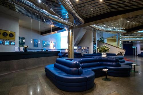 The lobby or reception area at Salute Hotel