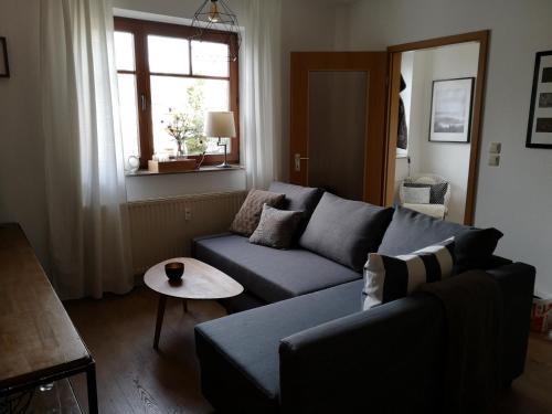 A seating area at Ferienwohnung Schreckenbach