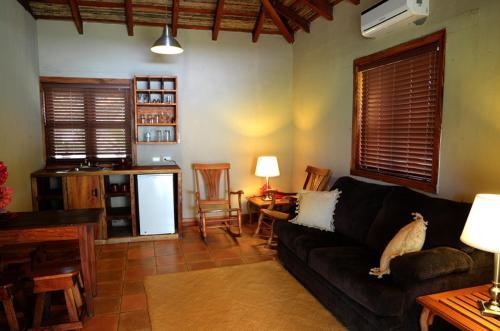 A seating area at Hotel San Juan Ometepe