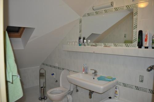 Kúpeľňa v ubytovaní Hostinec Škulec - Ubytovanie