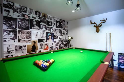 A pool table at Benviar Tonson Residence