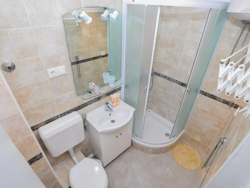 A bathroom at Downtown apartment Korina Zadar