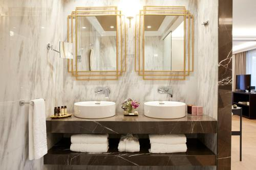 A bathroom at The Excelsior