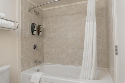 A bathroom at Chicago South Loop Hotel