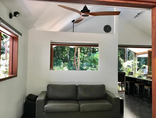 A seating area at Forest Views Daintree