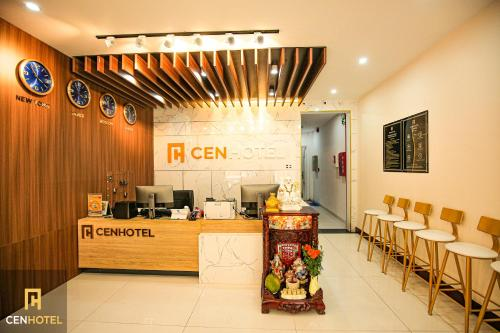 The lobby or reception area at Cen Hotel