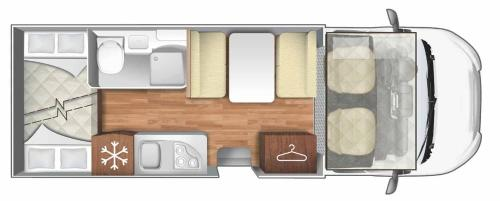 The floor plan of Rent a Camper