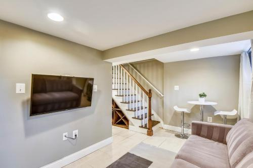 A television and/or entertainment center at Serene One Bedroom
