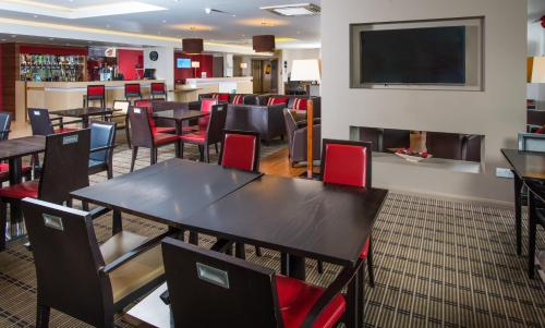 A restaurant or other place to eat at Holiday Inn Express Derby Pride Park, an IHG Hotel