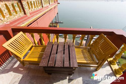 A balcony or terrace at Ganpati Guest House