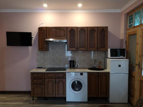 Virtuve vai virtuves aprīkojums naktsmītnē Villa Victoria