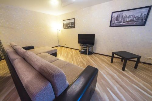 A seating area at Apartment On Yakubovskogo