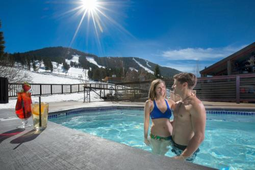 The swimming pool at or near Snow King Resort