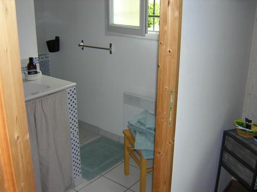 Salle de bains dans l'établissement Lo Saunei
