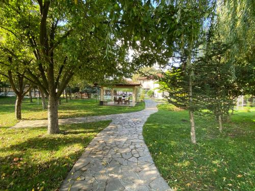 A garden outside Yaev Hotel