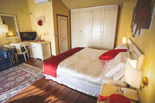 Кровать или кровати в номере Hotel Posta