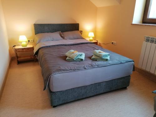 Łóżko lub łóżka w pokoju w obiekcie Krakowiacy i Ślązacy-noclegi