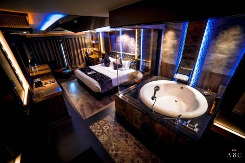 A bathroom at ABC Hotel