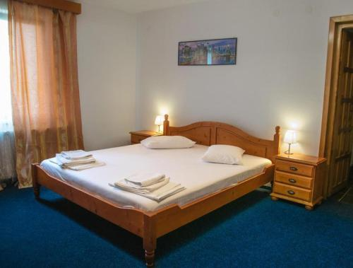 Cama o camas de una habitación en Hotel Maier
