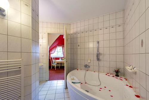 Ein Badezimmer in der Unterkunft Hotel Overdiek