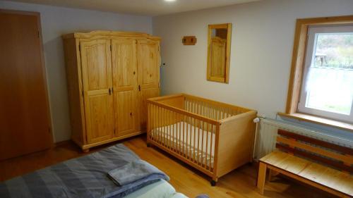 Ein Sitzbereich in der Unterkunft Ferienhaus Broche