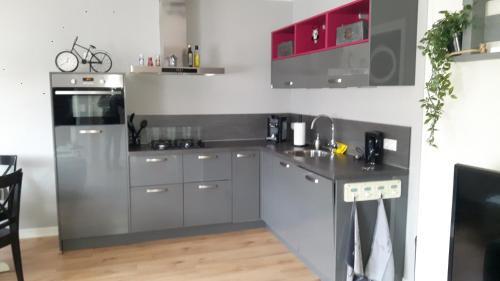 Een keuken of kitchenette bij Vitamine Zee