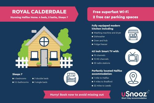 The floor plan of Royal Calderdale Lodge