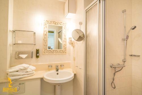 A bathroom at Aurelia Hotel St.Hubertus