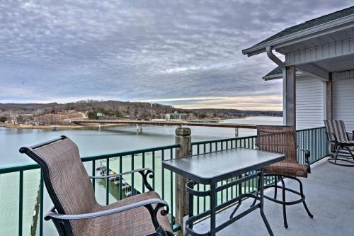 A balcony or terrace at Waterfront Condo on Lake of the Ozarks with 2 Pools!