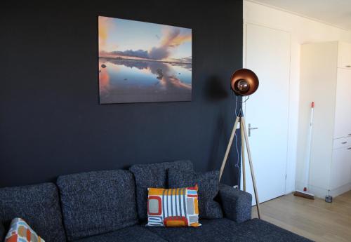Ein Sitzbereich in der Unterkunft Wijnberg Appartementen