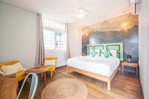 Cama o camas de una habitación en Selina Bocas del Toro