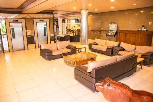 The lobby or reception area at Matsubara Acqua Park Hotel