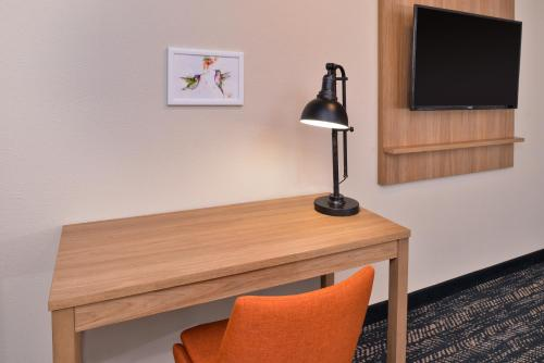 A television and/or entertainment center at La Fuente Inn & Suites
