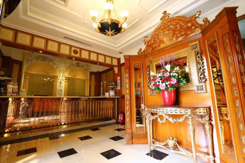 The lobby or reception area at Rido Hotel