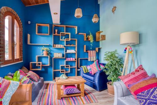 Coin salon dans l'établissement Selina Huaraz