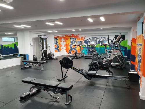 The fitness center and/or fitness facilities at M Social Auckland