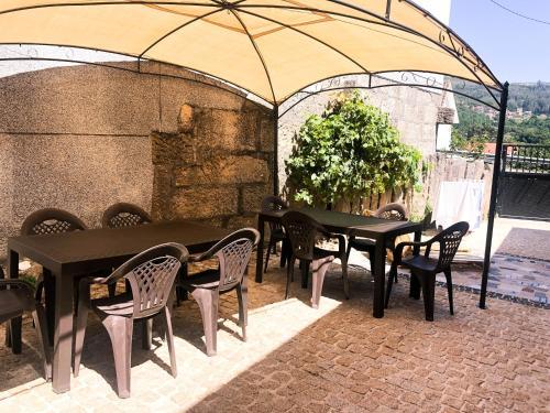 A porch or other outdoor area at O Refuxio de la Jerezana