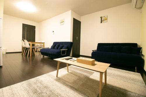 A seating area at Sakuragawa no Nakatsu House near Umeda/Osaka station