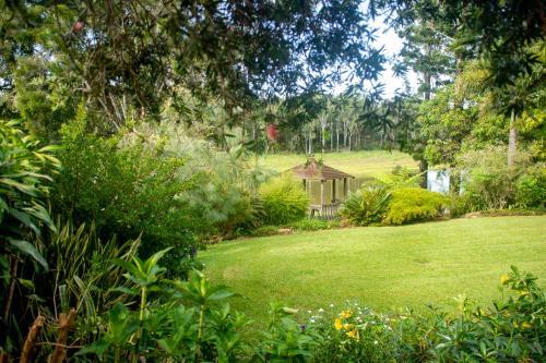 A garden outside The Lake House