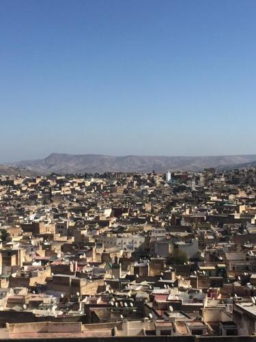 Blick auf Riad Safari Fes aus der Vogelperspektive