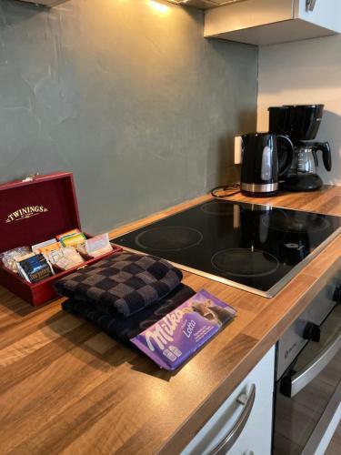 Een keuken of kitchenette bij De Sonnehoeck