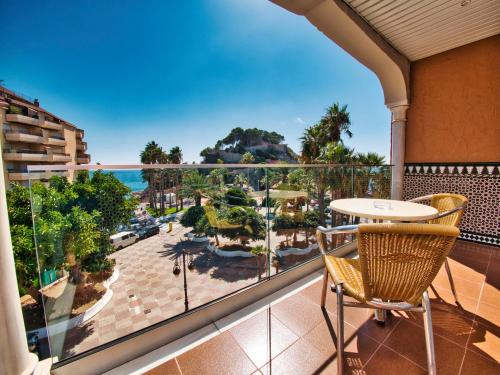 A balcony or terrace at Hotel Casablanca