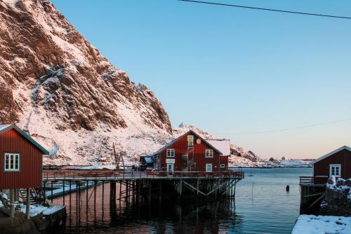 Å Rorbuer durante l'inverno