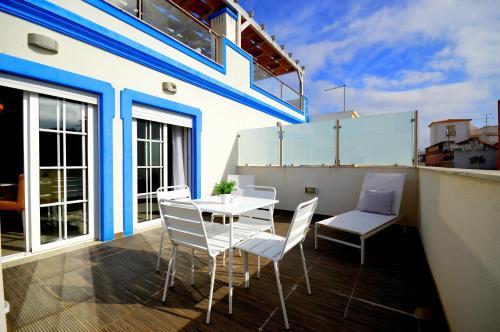 Uma varanda ou terraço em Apartamentos Sol & Ria