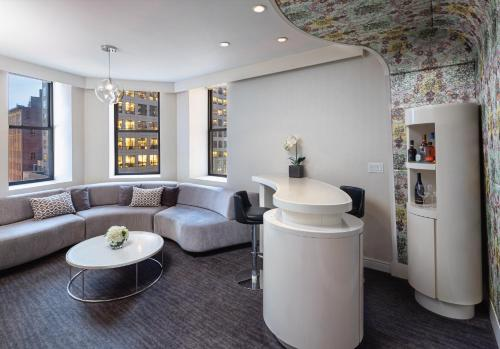 A seating area at Dream Midtown