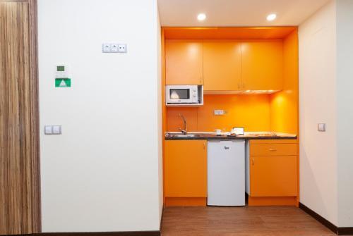 Cuisine ou kitchenette dans l'établissement Hotel Dome Madrid