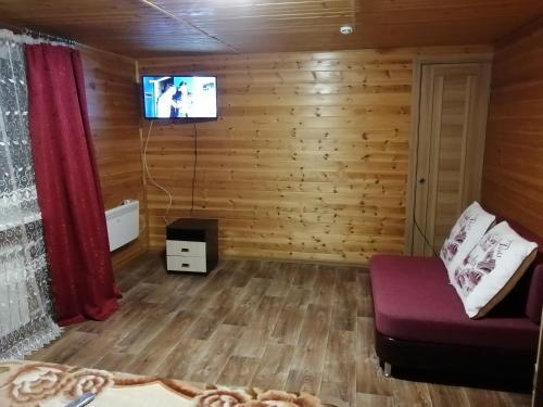 Телевизор и/или развлекательный центр в Halaktyrsky Dvor