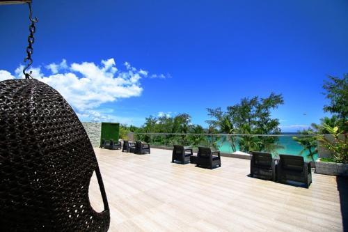 A balcony or terrace at Boracay Uptown